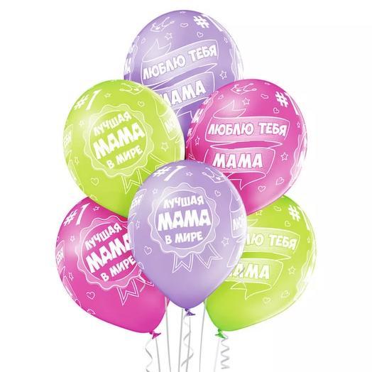 "7 helium balloons "" Mama"""
