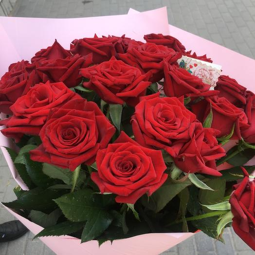 23 красных роз