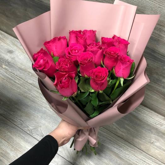 Букет роз (малиновые)