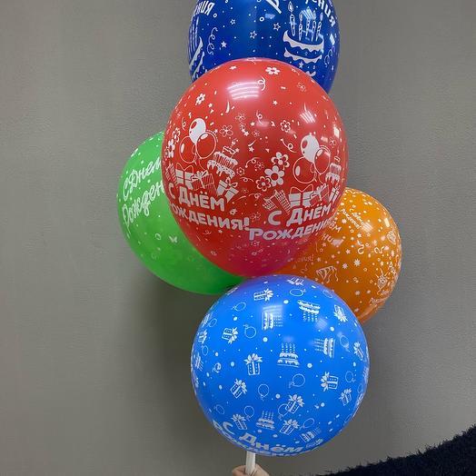 Воздушные праздничные  шарики с воздухом