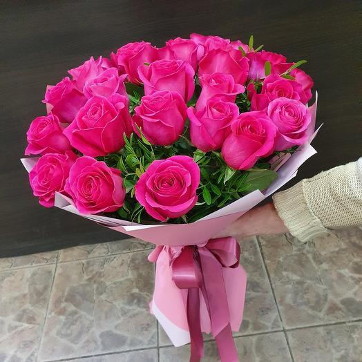 """Монобукет из 25 роз """"пинк флойд"""""""