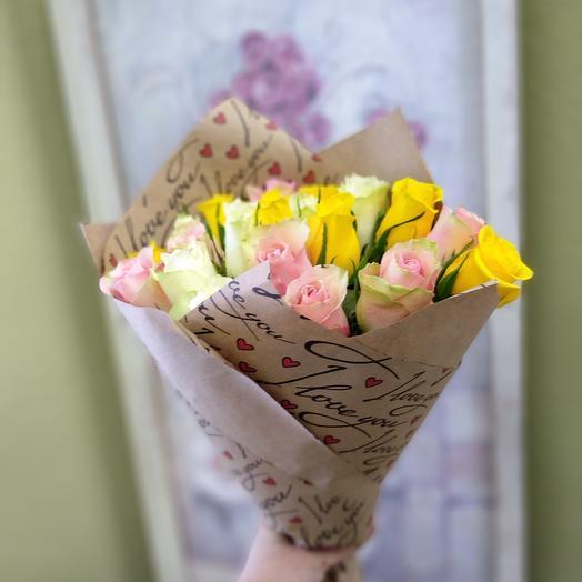 21 роза микс 🎀