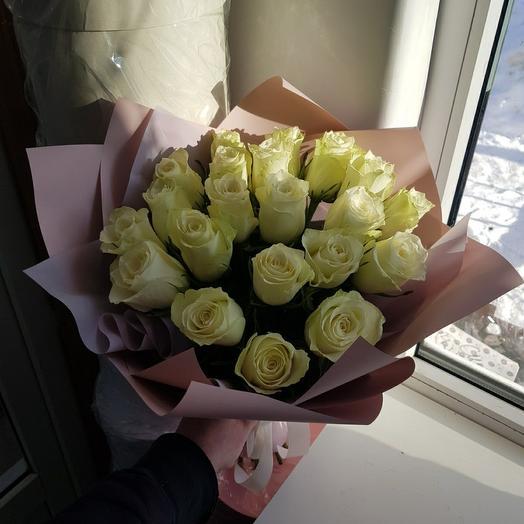 21 белая роза