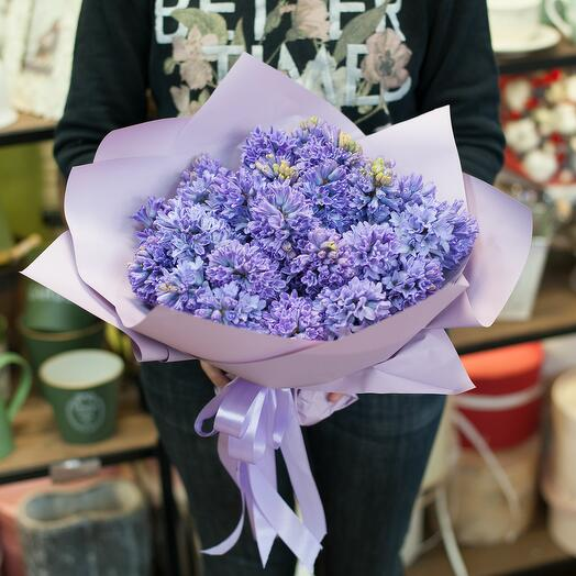 Букет цветов Сиреневые гиацинты