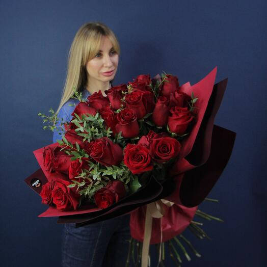 31 Винная роза в оформлении