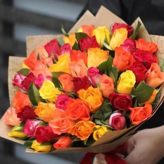 Пламя из 51 розы