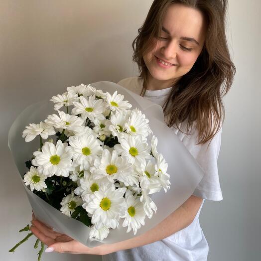 Моно из хризантемы белый