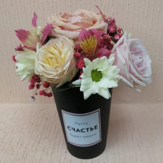 Цветы в коробке Весенний комплимент