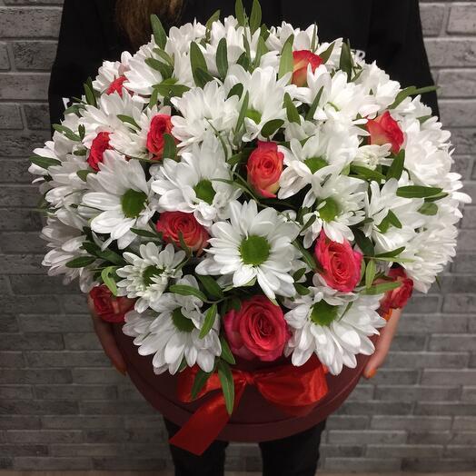 Цветы в коробке 065777