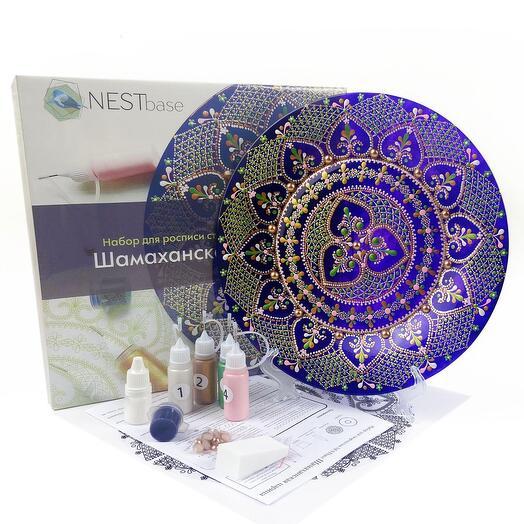 Набор для росписи тарелки NESTbase «Шамаханская царица»