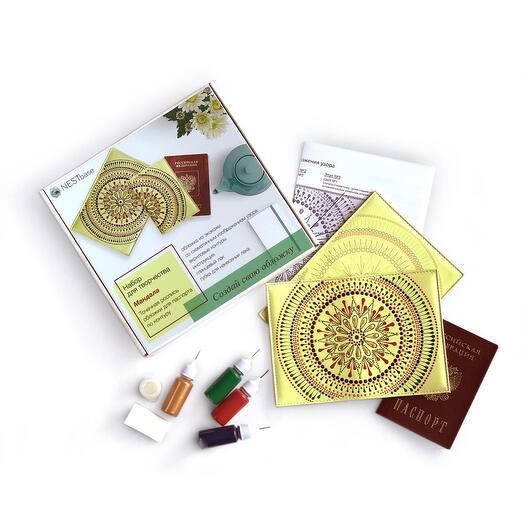 Набор для росписи обложки на паспорт NESTbase «Мандала»
