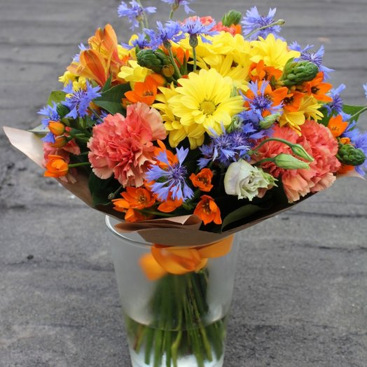 Васильки и птицы: букеты цветов на заказ Flowwow