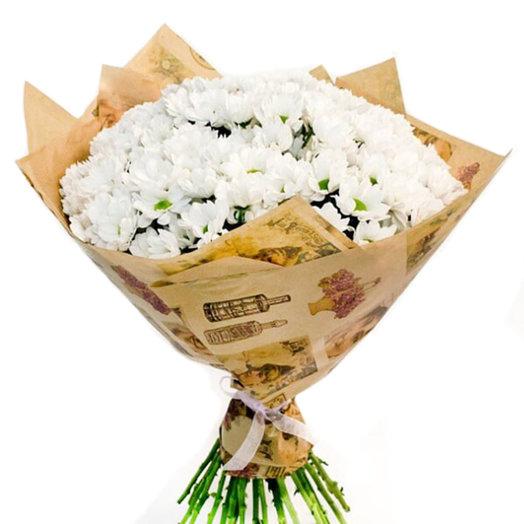 Букет из хризантем Дыхание зимы: букеты цветов на заказ Flowwow