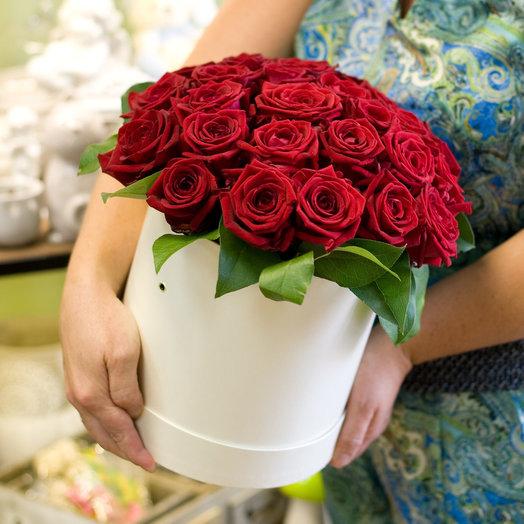 Коробка с цветами Признание