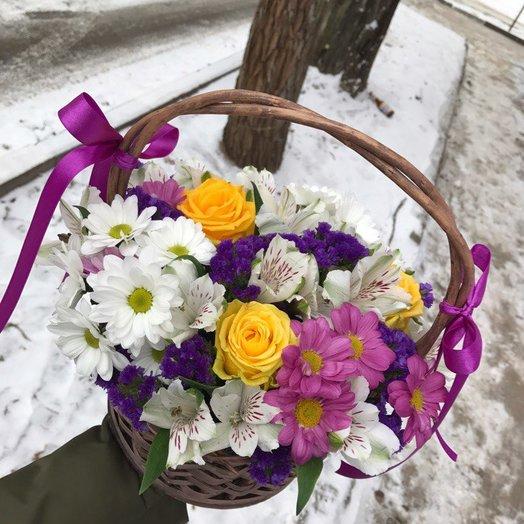 "Аккуратный букет ""Радость"": букеты цветов на заказ Flowwow"
