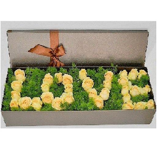 Короб LOVE: букеты цветов на заказ Flowwow
