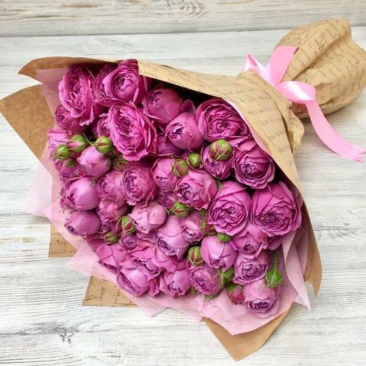 Пионовидная кустовая роза. 15 веточек.  N33: букеты цветов на заказ Flowwow