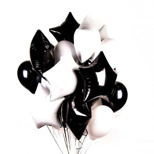 "Воздушный фонтан ""black and white"""