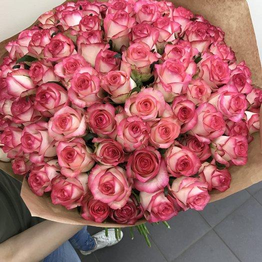 Монобукет 101 роза: букеты цветов на заказ Flowwow