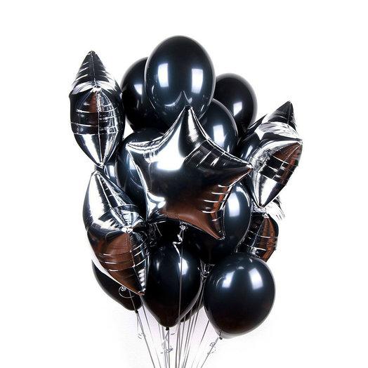"""Букет """"Серебро + черный"""": букеты цветов на заказ Flowwow"""