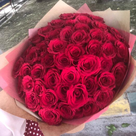 АКЦИЯ 51 роза : букеты цветов на заказ Flowwow