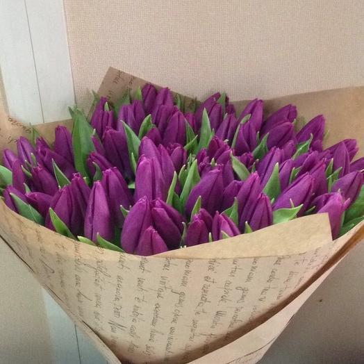 Тюльпаны 49 шт: букеты цветов на заказ Flowwow