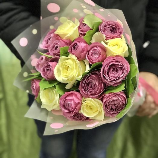 Букет роз микс: букеты цветов на заказ Flowwow