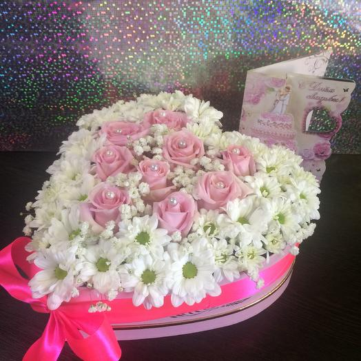 Pink heart: flowers to order Flowwow