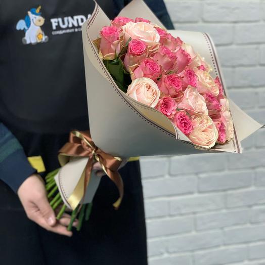 Букет из роз Для неё: букеты цветов на заказ Flowwow