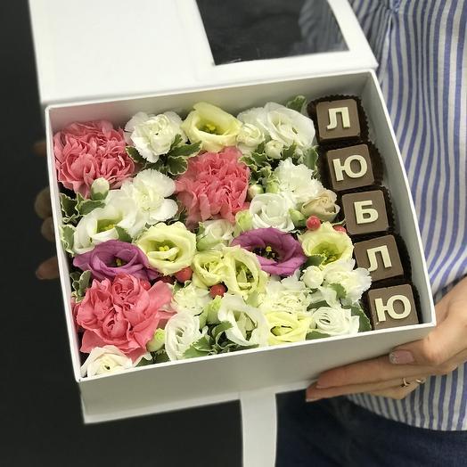 Композиция «Люблю»: букеты цветов на заказ Flowwow