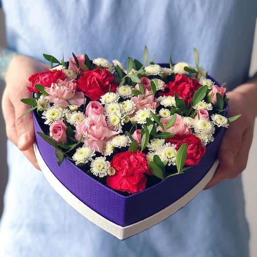 Heart 22 Малое: букеты цветов на заказ Flowwow