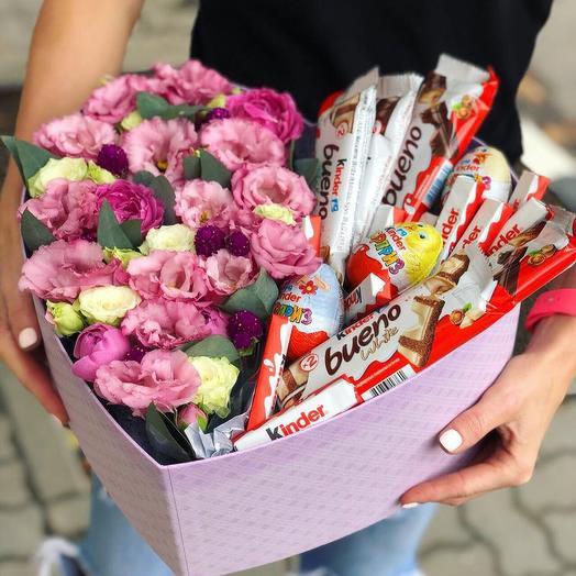 Вкусная коробочка с цветами