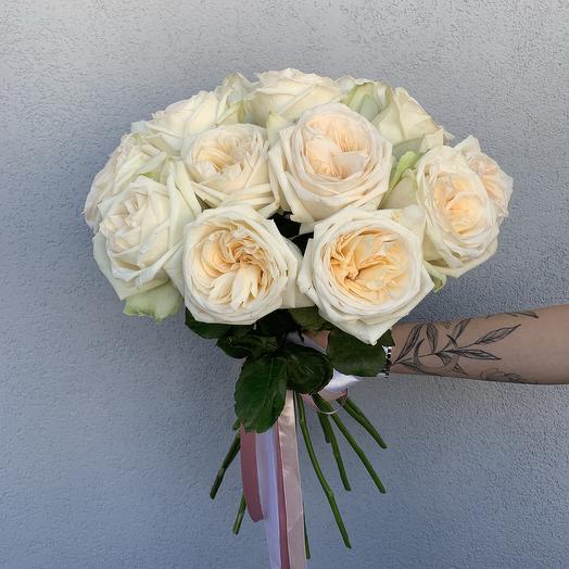 Букет из 15 роз White O hara: букеты цветов на заказ Flowwow