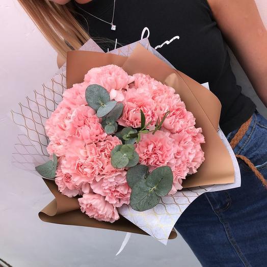Моно букет из диантусов: букеты цветов на заказ Flowwow