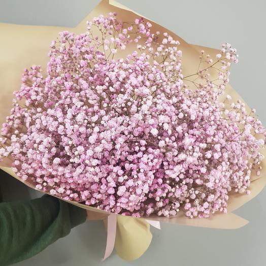Розовые хлопья гипсофилы: букеты цветов на заказ Flowwow