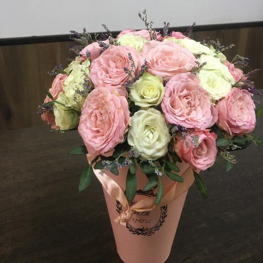 Композиция «Розовое счастье»: букеты цветов на заказ Flowwow