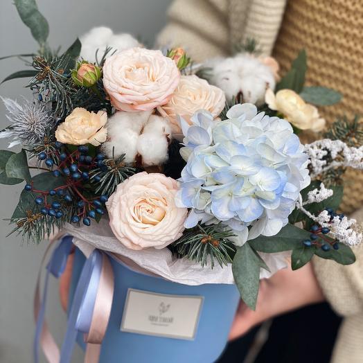 Снежная коробочка 10.01: букеты цветов на заказ Flowwow