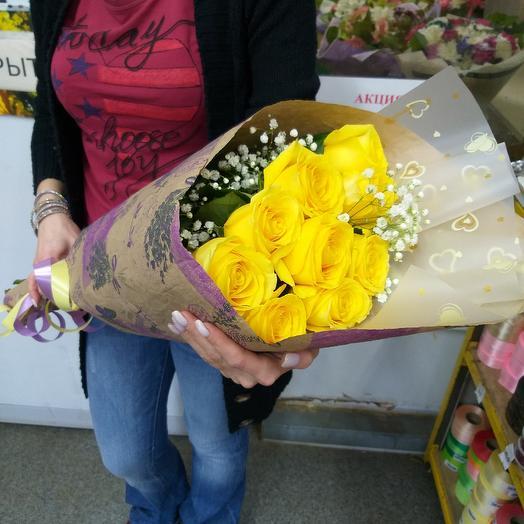 Букет с жёлтыми розами