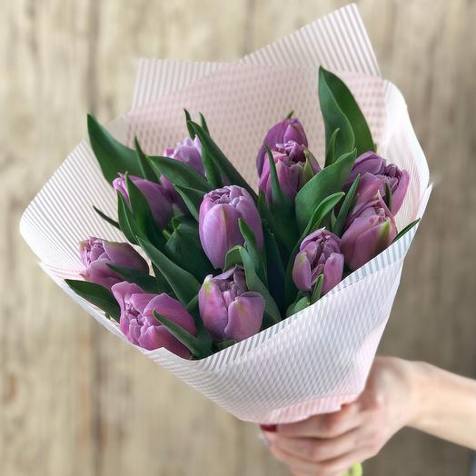 Lilac mist, bouquet of tulips 11 Hit