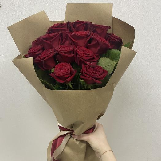 Букет из 15 красных роз (50 см ): букеты цветов на заказ Flowwow