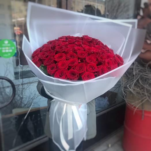 Розы букет гигант