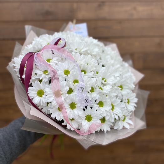 Букет «Белая ромашковая хризантема»