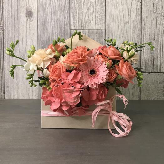Цветочный конвертик: букеты цветов на заказ Flowwow