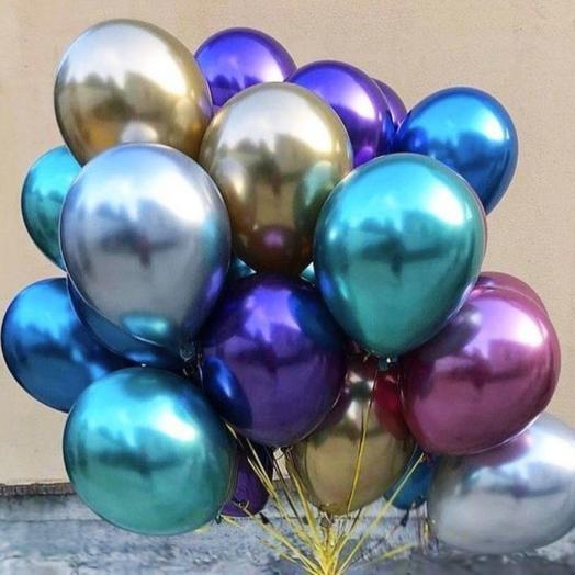 Воздушные шары - хром (15шт.)