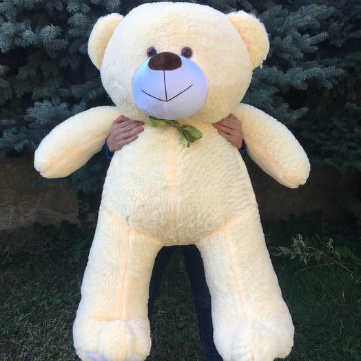 Плюшевий ведмедик 160 см персиковий