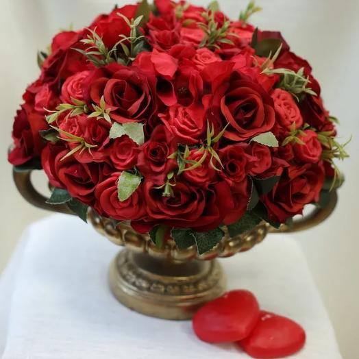 Мыльные розы+ваза