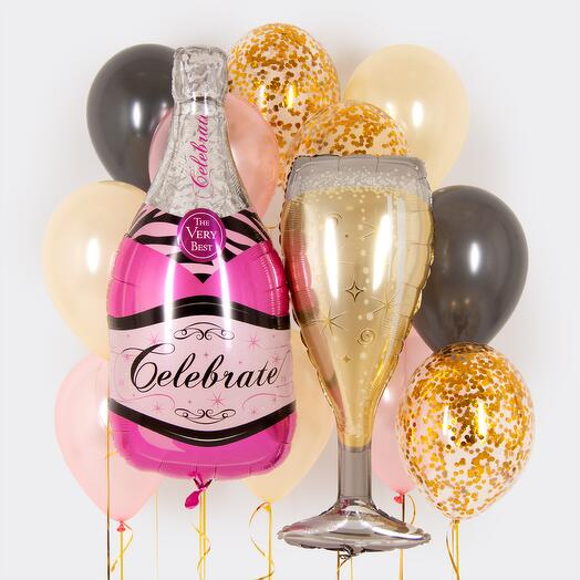 """Набор шаров """"Розовое шампанское"""""""