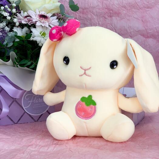 Мягкая игрушка «Зайка малинка»
