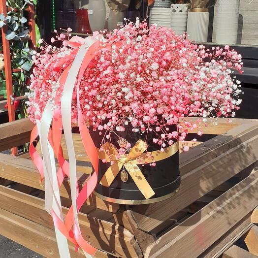 Цветы в коробке(Розовый бриз)