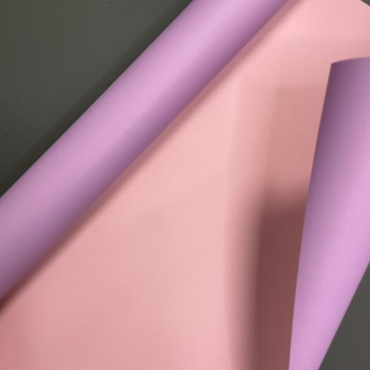 Плёнка двухцветная сиренево-розовая